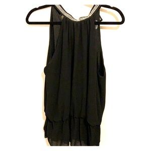 Black sleeveless Maria & Kendal's blouse
